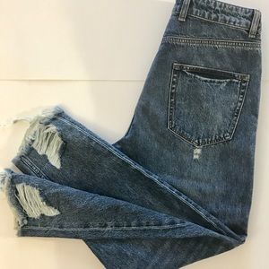 "ZARA MAN ""Legend"" denim RIPPED jeans, Size-32, NWT"